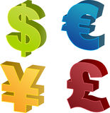 Het symboolillustraties van de munt Stock Foto's