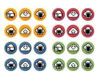 Het symboolnetwerk van de Appsknoop stock illustratie
