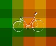 Het symboolontwerp van de sportenfiets op textuurachtergrond Stock Afbeeldingen