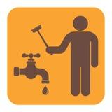 Het symboolpictogram van het loodgieterswerkwerk Stock Afbeelding