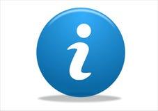 Het symboolpictogram van info Stock Foto