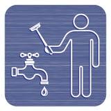 Het symboolpictogram van het loodgieterswerkwerk Royalty-vrije Stock Fotografie