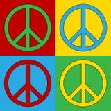 Het symboolpictogrammen van de pop-artvrede stock illustratie