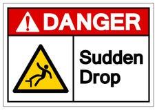 Het Symboolteken van de gevaars Plotseling Daling, VectordieIllustratie, op Wit Etiket wordt geïsoleerd Als achtergrond EPS10 vector illustratie