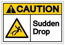 Het Symboolteken van de voorzichtigheids Plotseling Daling, VectordieIllustratie, op Wit Etiket wordt geïsoleerd Als achtergrond  stock illustratie
