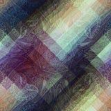 Het symmetrische patroon van Paisley op pixelachtergrond Stock Afbeelding