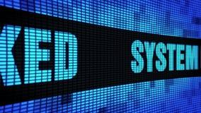 Het systeem binnendrong in een beveiligd computersysteem Zijteksten Scrollend LEIDEN Muurcomité de Raad van het Vertoningsteken vector illustratie