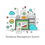 Het Systeem DBMS van het gegevensbestandbeheer Stock Fotografie