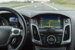 Het systeem van de autonavigatie Stock Foto's
