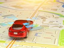 Het systeem van de bestuurdershulp, zelf-drijft voertuig, automatische piloot en driverless technologieconcept royalty-vrije illustratie