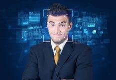 Het systeem van de gezichtserkenning royalty-vrije stock afbeelding