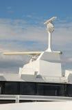 Het systeem van de schepenradar op een oceangoing schip Stock Afbeelding