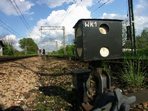 Het systeem van de spoorweg Stock Afbeeldingen