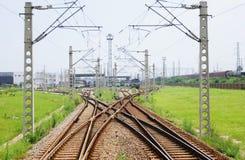 Het systeem van de spoorweg stock fotografie