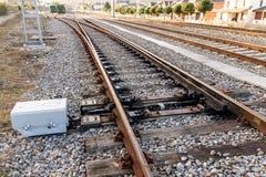 Het systeem van de spoorwegafleidingsactie Royalty-vrije Stock Afbeeldingen