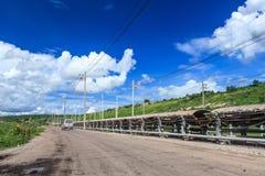 Het Systeem van de steenkooltransportband Royalty-vrije Stock Afbeeldingen