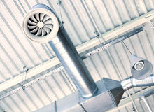 Het systeem van de ventilatie Stock Afbeeldingen