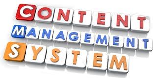 Het Systeem van het Beheer van de inhoud Stock Afbeelding