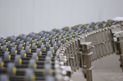Het systeem van het industrieproductvervoer Stock Foto's