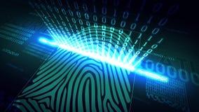 Het systeem van vingerafdrukaftasten - biometrische veiligheidsvoorzieningen