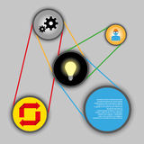 Het systeemachtergrond van het technologieidee Royalty-vrije Stock Afbeeldingen