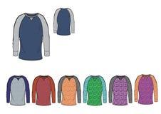 Het T-stukontwerp van het dameshonkbal in zwaar de kleurengaren van Jersey Royalty-vrije Stock Afbeelding