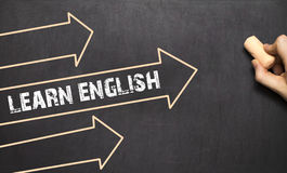 Het taal het leren concept Learn het Engels Royalty-vrije Stock Afbeeldingen