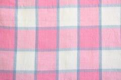 Het Tafelkleed van de plaid Stock Foto