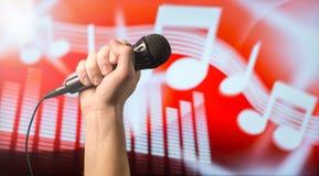 Het talent toont en levend zingen royalty-vrije stock afbeeldingen