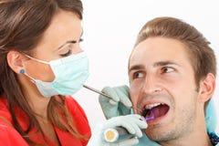 Het tand vullen stock foto