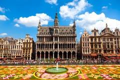 Het Tapijt 2010, Brussel van de bloem. Stock Foto's