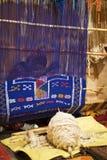 Het tapijt van Berber het maken stock foto