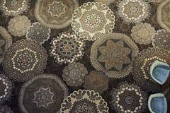 Het tapijt van bloemmotieven Royalty-vrije Stock Foto