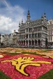 Het tapijt van de bloem in Brussel 2010 - het symbool van Brussel Stock Foto's