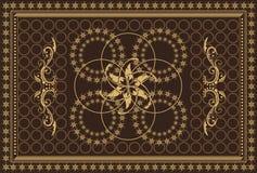Tapijt in bruine kleuren Royalty-vrije Stock Afbeelding