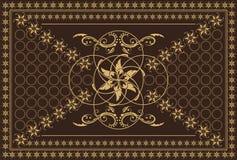 Bruin tapijt Royalty-vrije Stock Fotografie