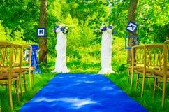 Het tapijt van het huwelijk Stock Afbeeldingen