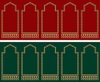 Het Tapijtpatroon van het moskeegebed Stock Fotografie