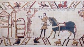 Het tapijtwerk van Bayeux stock afbeelding