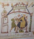 Het tapijtwerk van Bayeux Stock Afbeeldingen