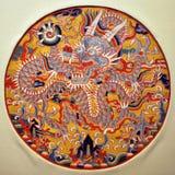 Het Medaillon van de draak, Chinese Traditionele Arts. stock afbeeldingen