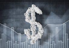 Het tarief van de dollarmunt, het 3d renderiing Stock Fotografie