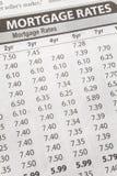 Het Tarief van de Hypotheek van de krant royalty-vrije stock afbeeldingen