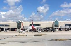 Het tarmac van het luchthavenvertrek in Palma de Mallorca royalty-vrije stock foto