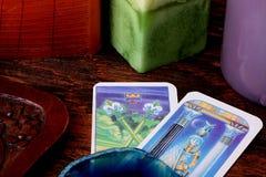 Het tarot van kaarten Royalty-vrije Stock Foto's