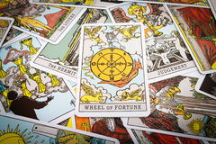 Het Tarot van tarotkaarten royalty-vrije stock afbeeldingen