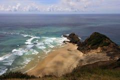 Het Tasman-Overzees ontmoet de Vreedzame Oceaan Royalty-vrije Stock Afbeelding