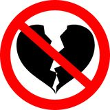 Het te breken hart het is verboden! Royalty-vrije Stock Fotografie