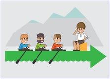 Het team stock illustratie