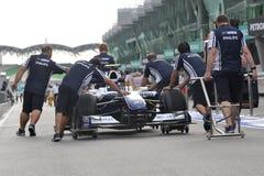 Het TEAM 2009 van WILLIAMS F1 Stock Foto's